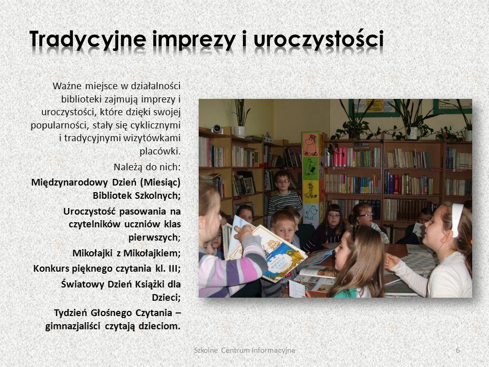 Ważne miejsce w działalności biblioteki zajmują imprezy i uroczystości, które dzięki swojej popularności, stały się cyklicznymi i tradycyjnymi wizytówkami placówki.