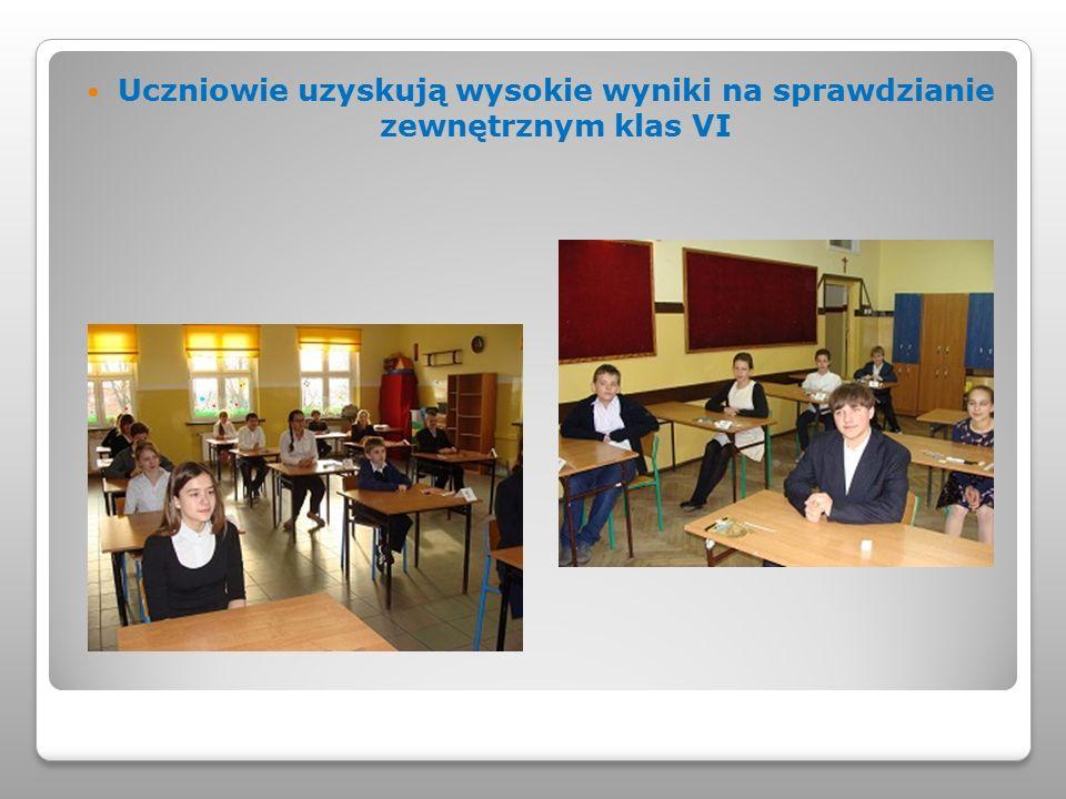 Uczniowie uzyskują wysokie wyniki na sprawdzianie zewnętrznym klas VI