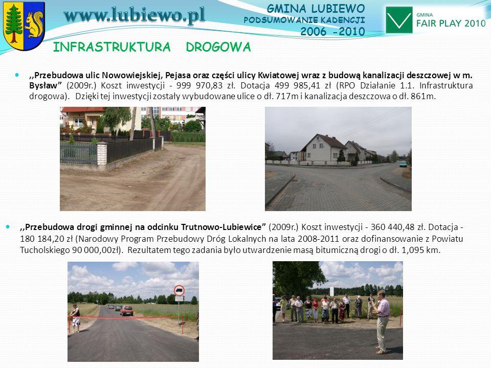 ,,Przebudowa ulic Nowowiejskiej, Pejasa oraz części ulicy Kwiatowej wraz z budową kanalizacji deszczowej w m.