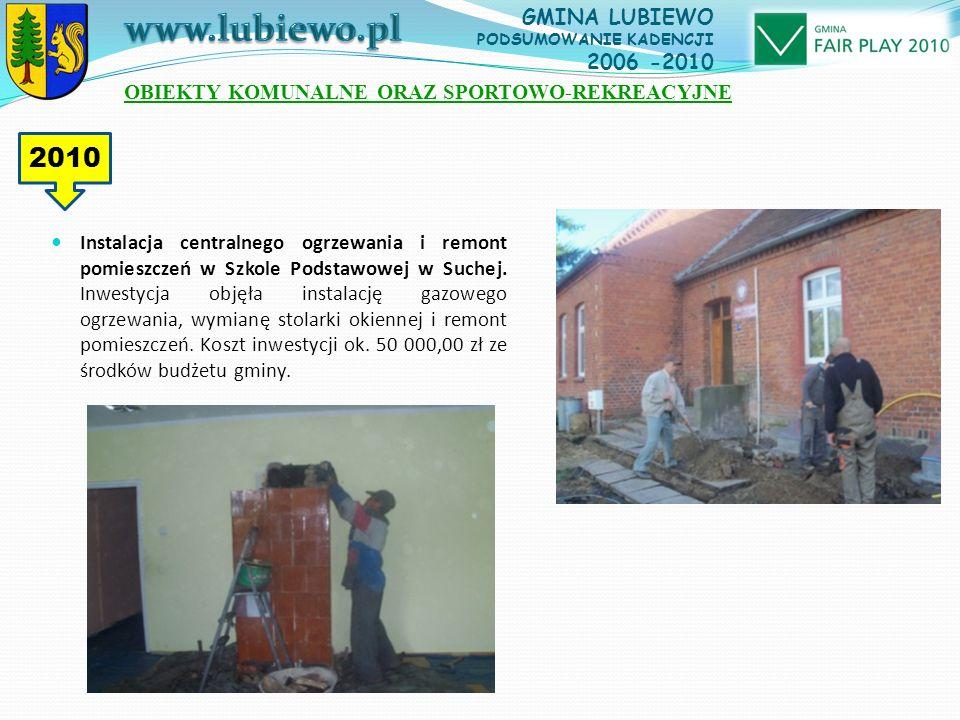 Instalacja centralnego ogrzewania i remont pomieszczeń w Szkole Podstawowej w Suchej.