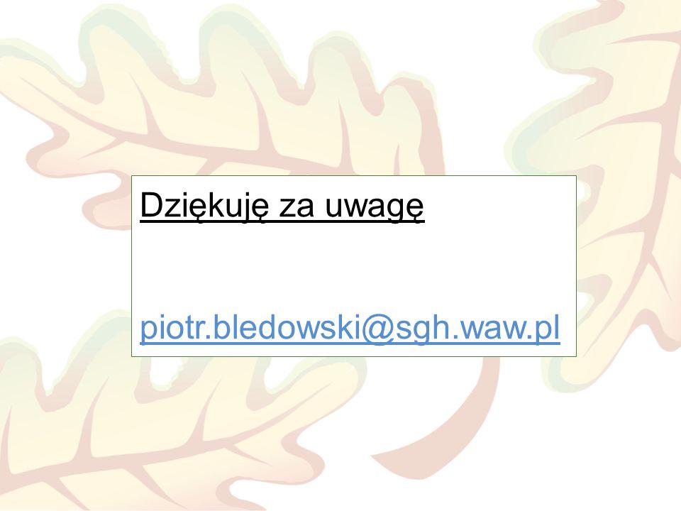 Dziękuję za uwagę piotr.bledowski@sgh.waw.pl
