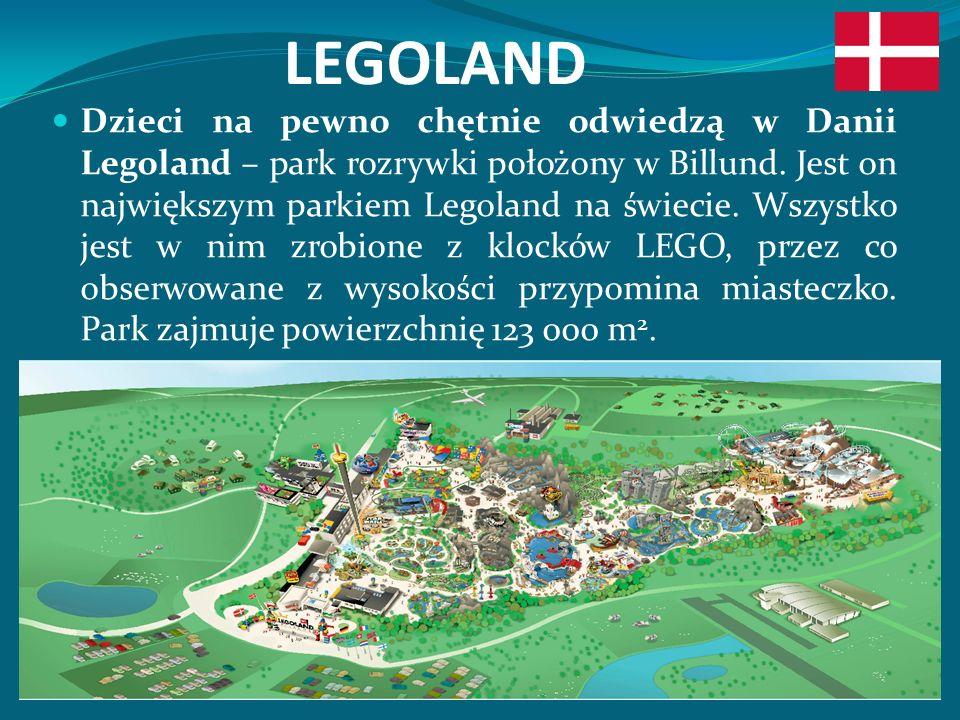 LEGOLAND Dzieci na pewno chętnie odwiedzą w Danii Legoland – park rozrywki położony w Billund.
