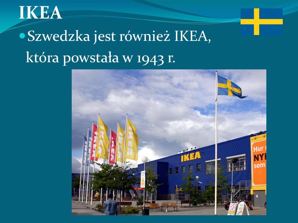IKEA Szwedzka jest również IKEA, która powstała w 1943 r.