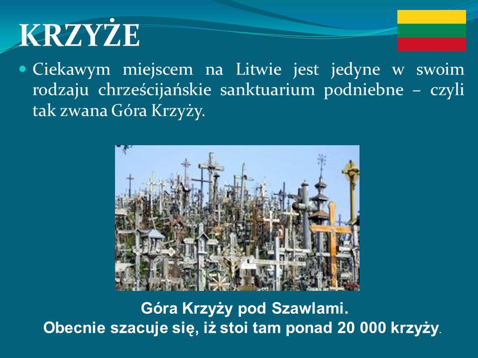 KRZYŻE Ciekawym miejscem na Litwie jest jedyne w swoim rodzaju chrześcijańskie sanktuarium podniebne – czyli tak zwana Góra Krzyży.