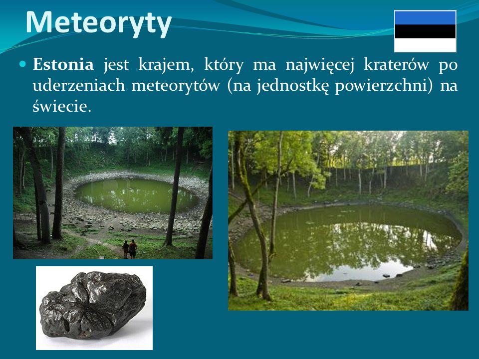 Meteoryty Estonia jest krajem, który ma najwięcej kraterów po uderzeniach meteorytów (na jednostkę powierzchni) na świecie.