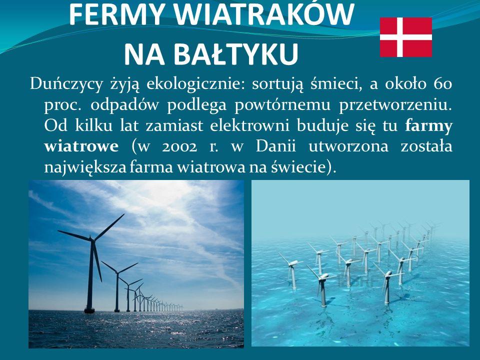 FERMY WIATRAKÓW NA BAŁTYKU Duńczycy żyją ekologicznie: sortują śmieci, a około 60 proc.