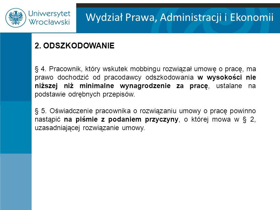Wydział Prawa, Administracji i Ekonomii 2. ODSZKODOWANIE § 4.