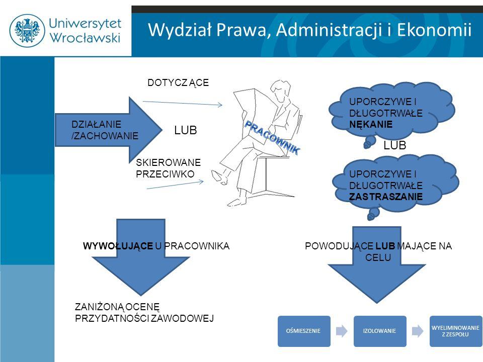 Wydział Prawa, Administracji i Ekonomii Z legalnej definicji zawartej w art.