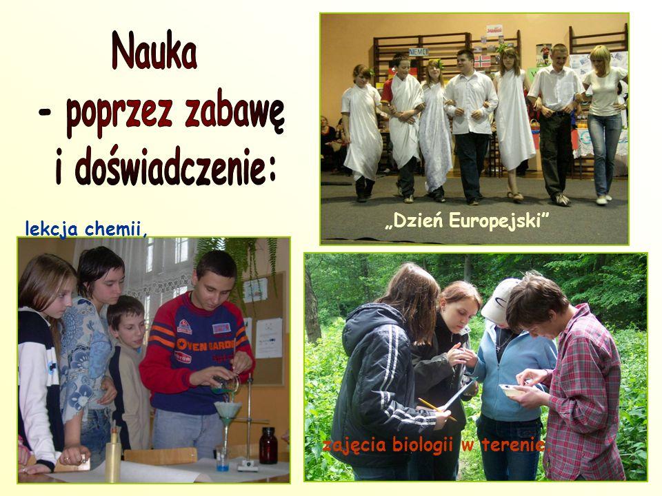 """lekcja chemii, """"Dzień Europejski zajęcia biologii w terenie."""