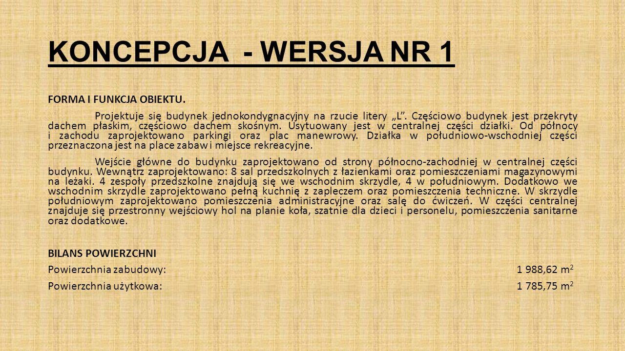 KONCEPCJA - WERSJA NR 2 Elewacje północna zachodnia