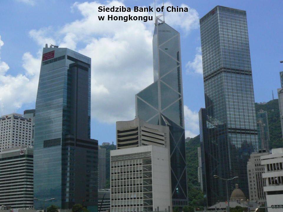 Siedziba Bank of China w Hongkongu