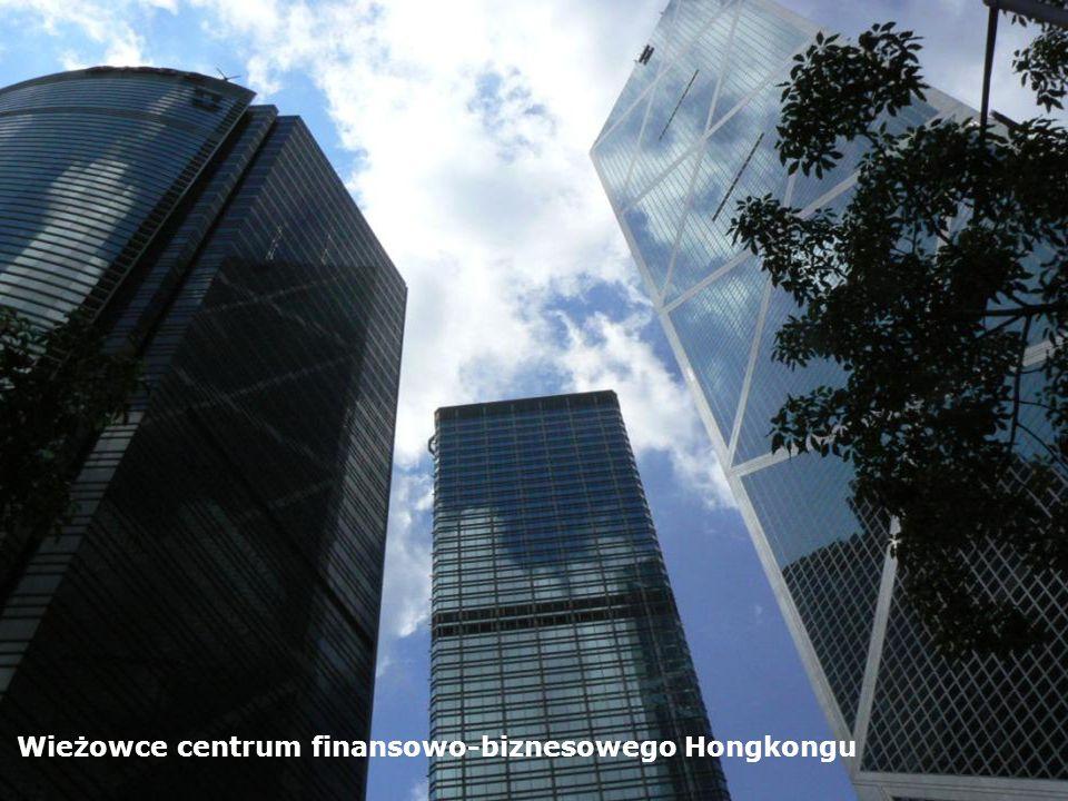 Wieżowce centrum finansowo-biznesowego Hongkongu