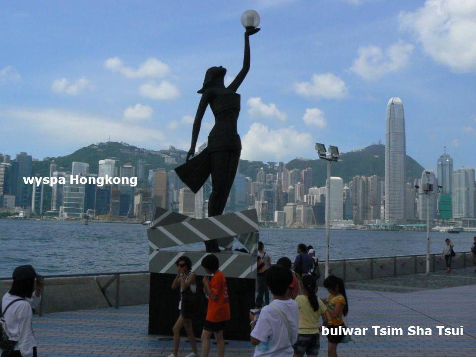 bulwar Tsim Sha Tsui wyspa Hongkong