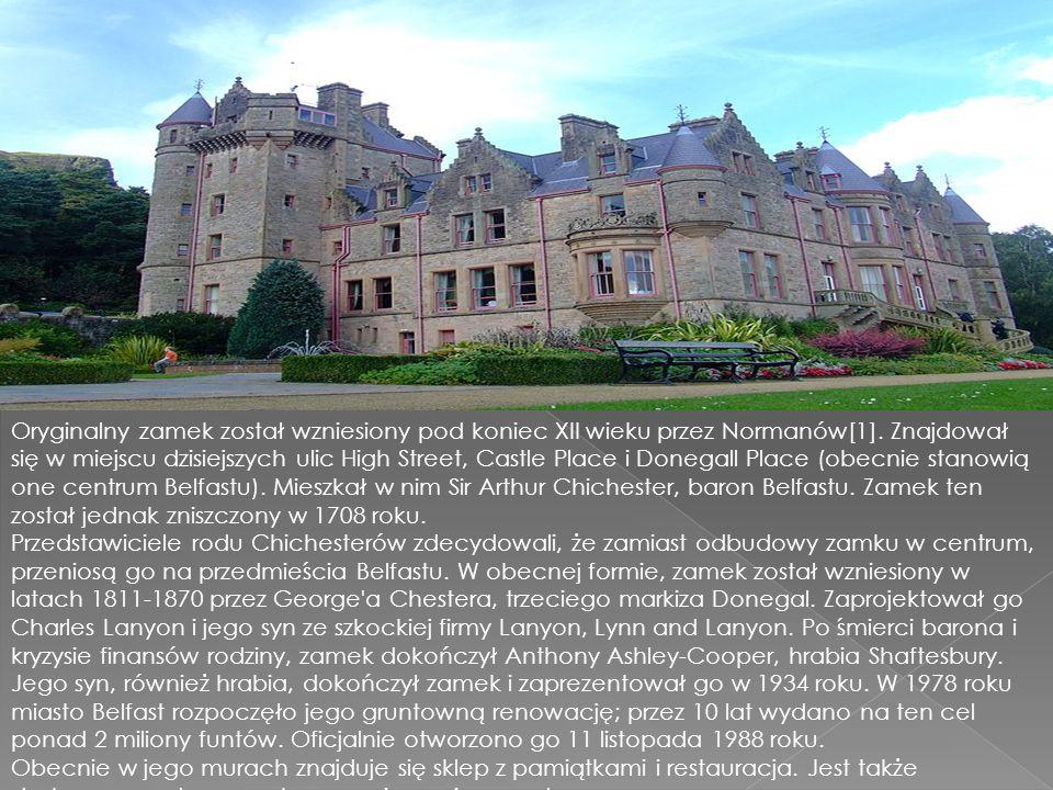 Oryginalny zamek został wzniesiony pod koniec XII wieku przez Normanów[1].