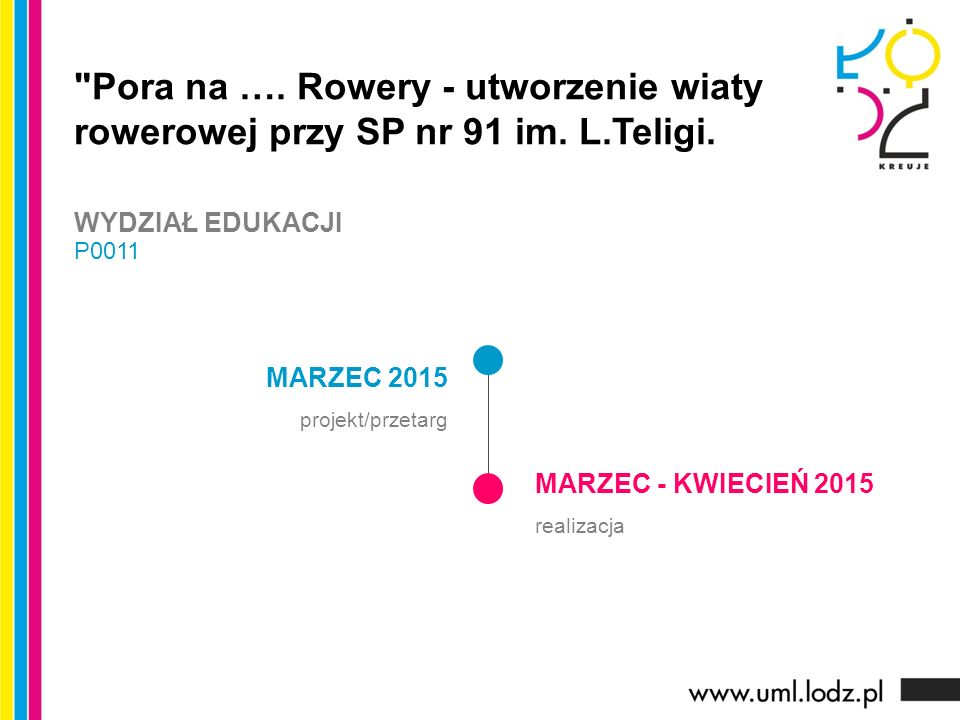 MARZEC 2015 projekt/przetarg MARZEC - KWIECIEŃ 2015 realizacja Pora na ….