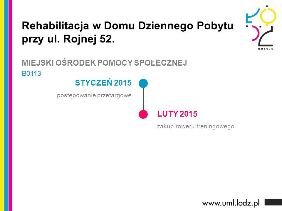 STYCZEŃ 2015 postępowanie przetargowe LUTY 2015 zakup roweru treningowego Rehabilitacja w Domu Dziennego Pobytu przy ul.