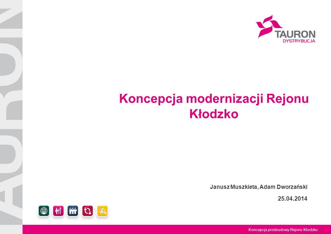 Tytuł Prezentacji Koncepcja przebudowy Rejonu Kłodzko Koncepcja modernizacji Rejonu Kłodzko Janusz Muszkieta, Adam Dworzański 25.04.2014