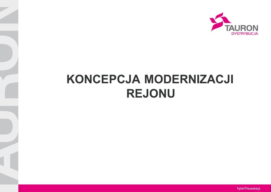 Tytuł Prezentacji KONCEPCJA MODERNIZACJI REJONU