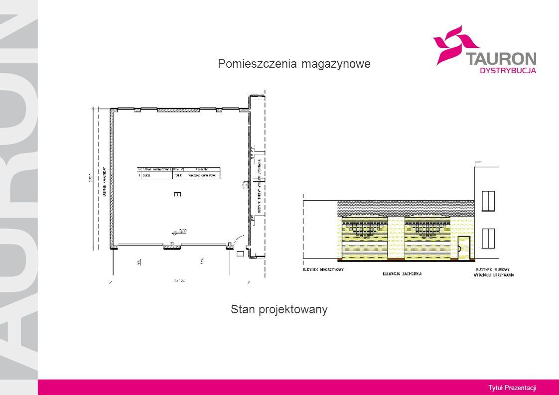 Tytuł Prezentacji Stan projektowany Pomieszczenia magazynowe