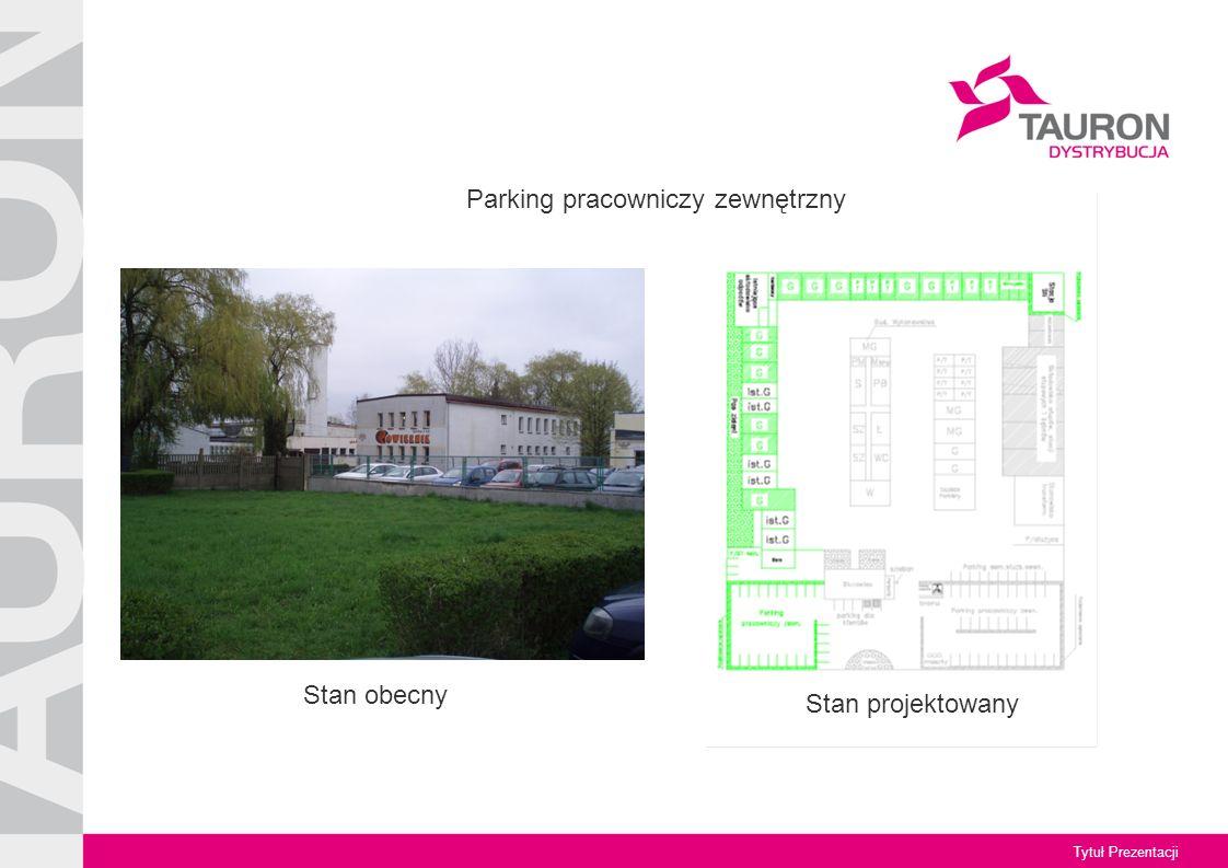Tytuł Prezentacji Stan obecny Stan projektowany Parking pracowniczy zewnętrzny