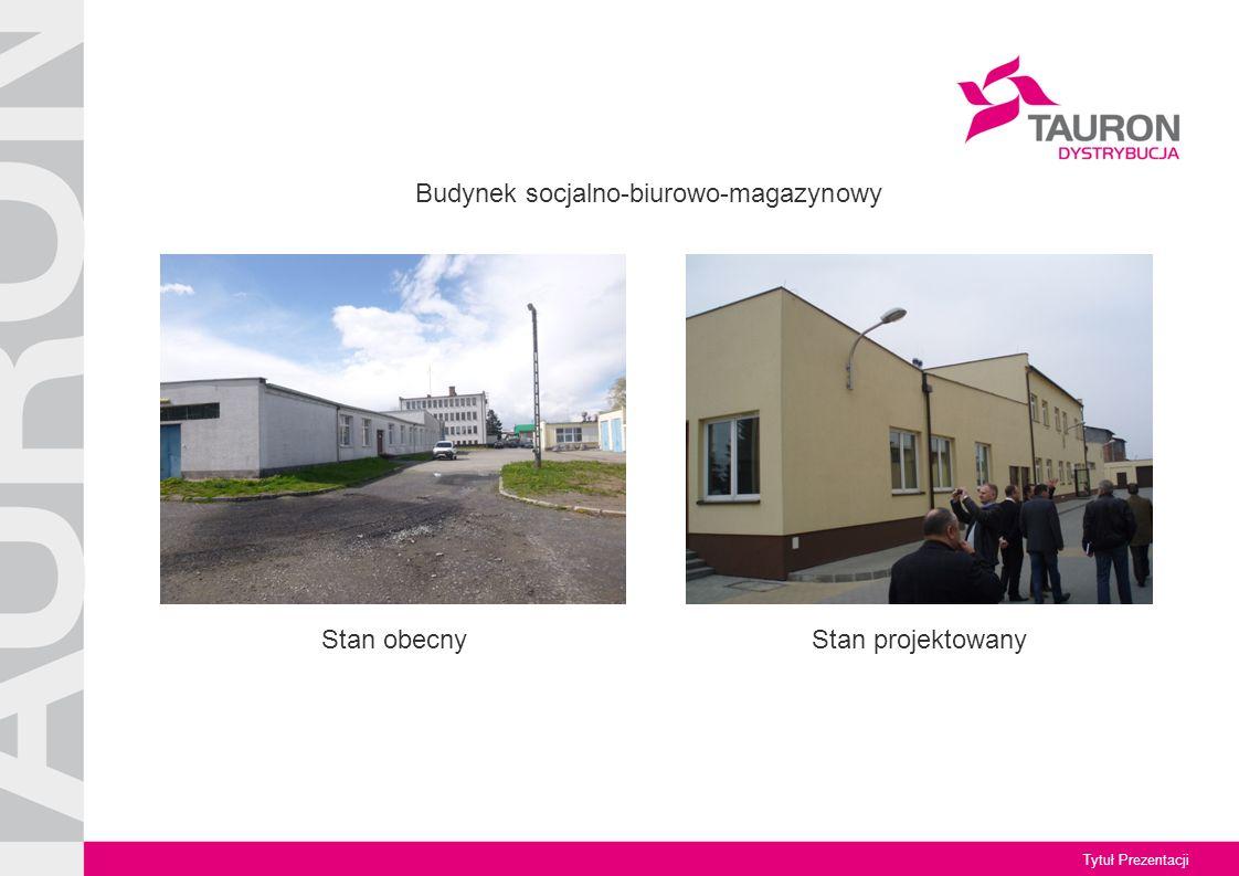 Tytuł Prezentacji Stan obecny Budynek socjalno-biurowo-magazynowy Stan projektowany