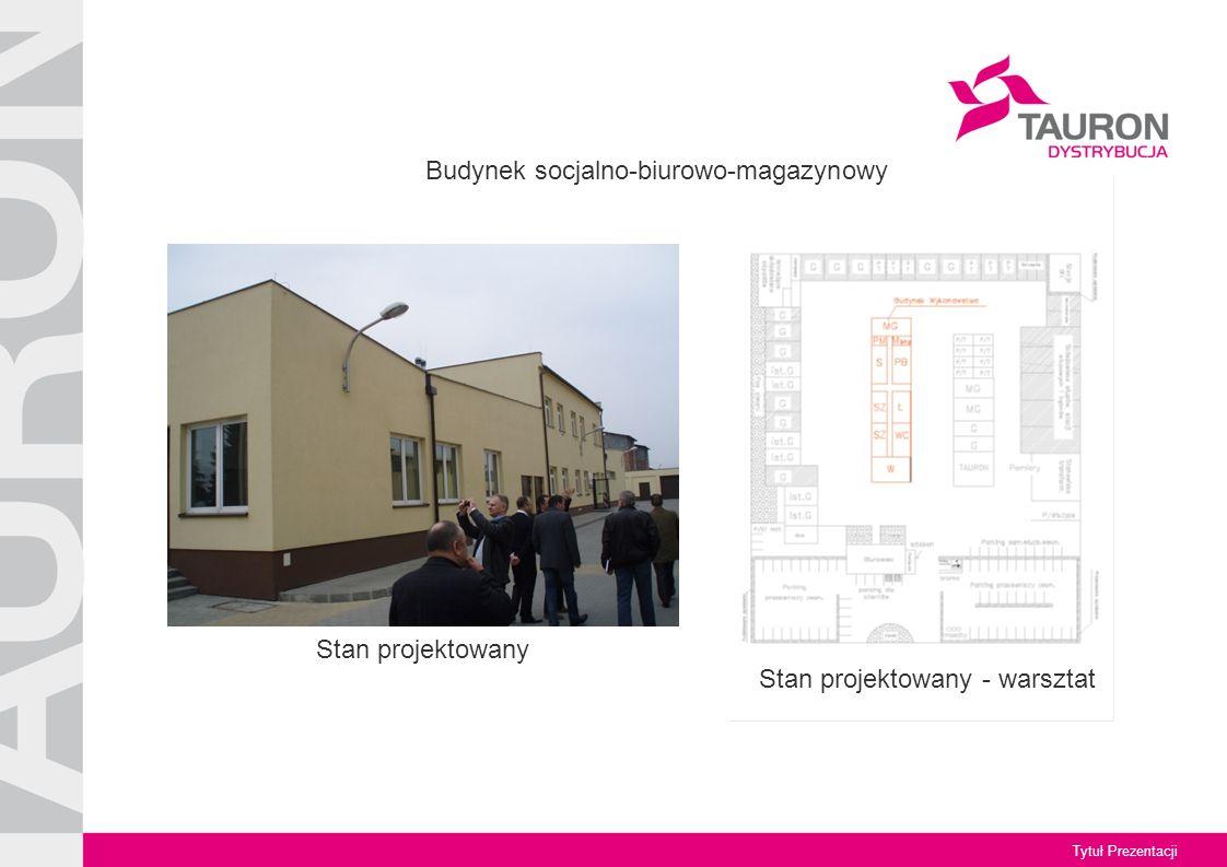 Tytuł Prezentacji Stan projektowany Stan projektowany - warsztat Budynek socjalno-biurowo-magazynowy
