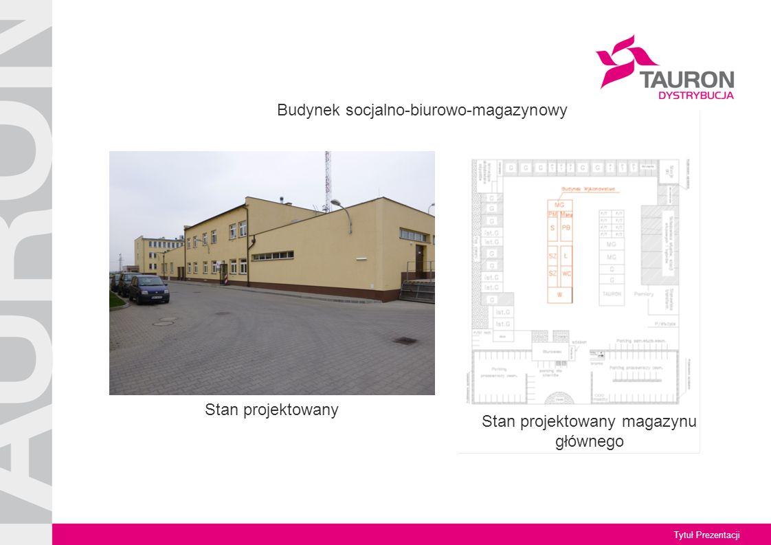 Tytuł Prezentacji Stan projektowany magazynu głównego Budynek socjalno-biurowo-magazynowy Stan projektowany