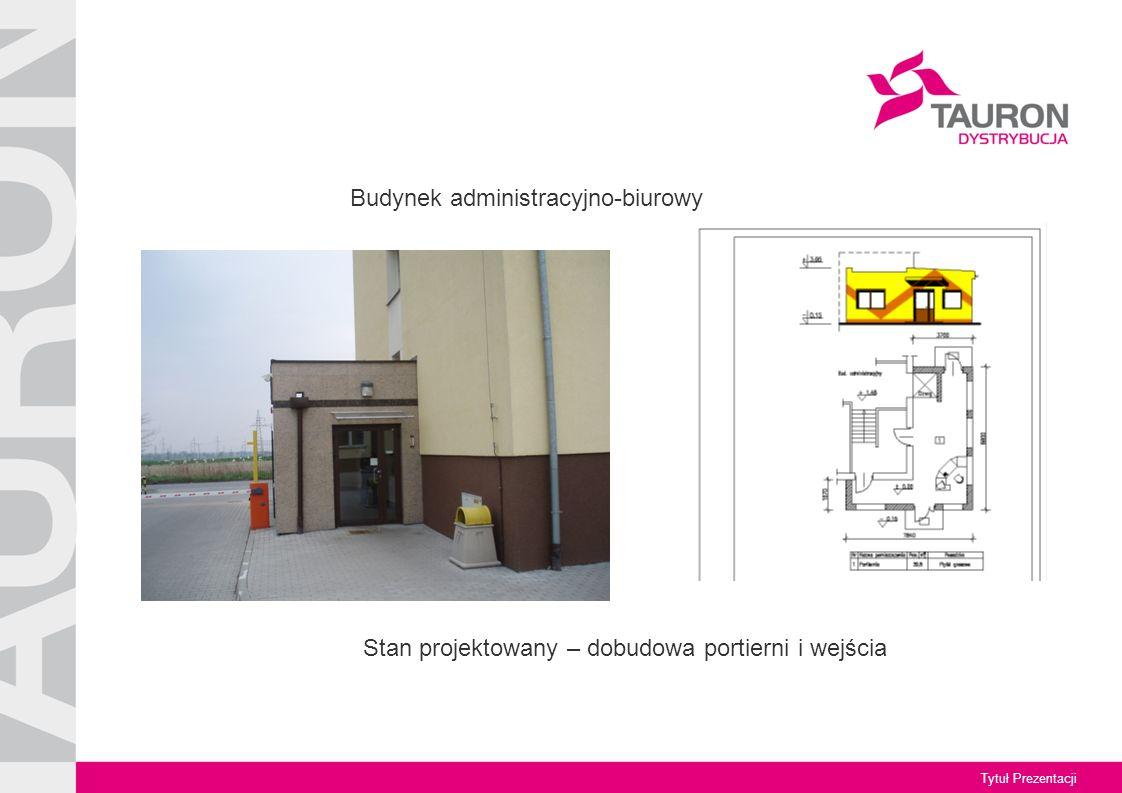 Tytuł Prezentacji Budynek administracyjno-biurowy Stan projektowany – dobudowa portierni i wejścia