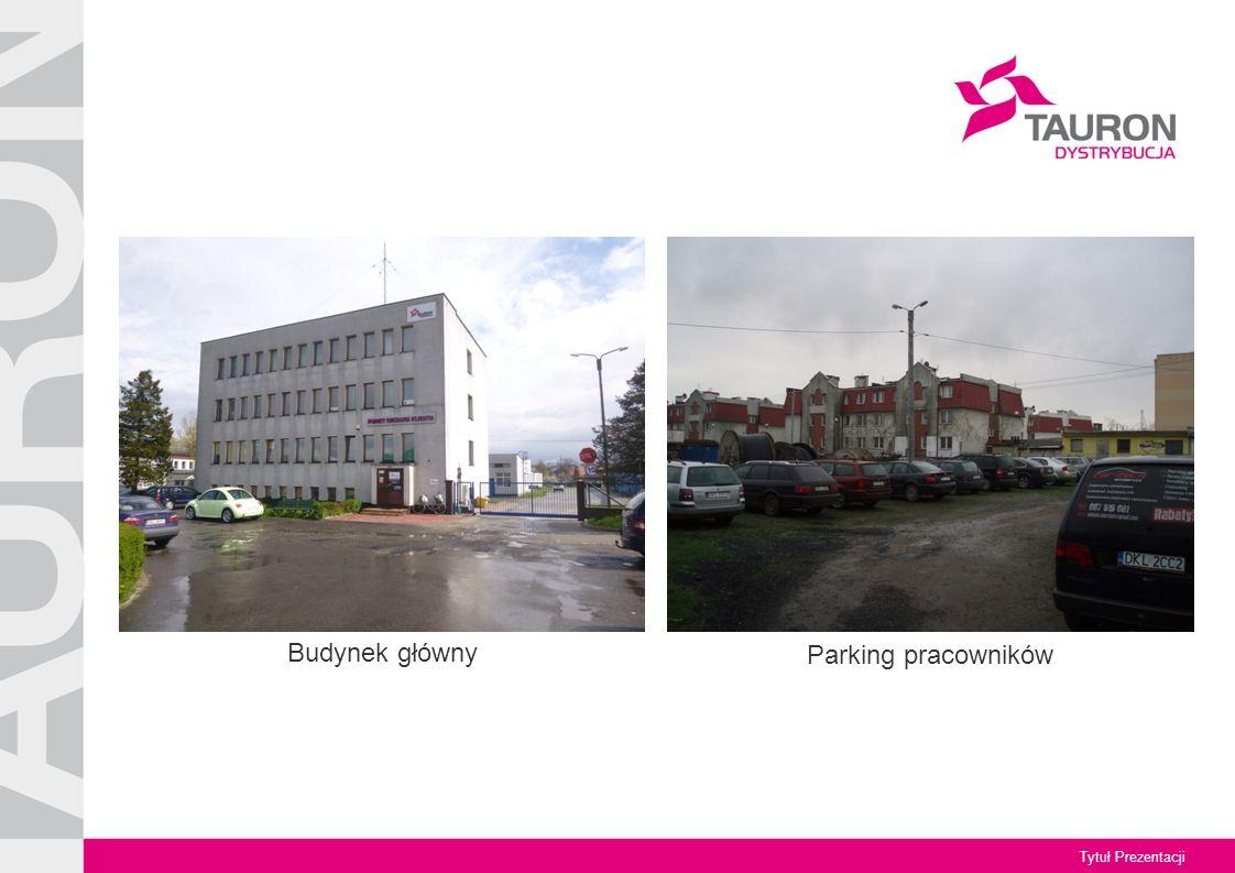 Budynek główny Parking pracowników