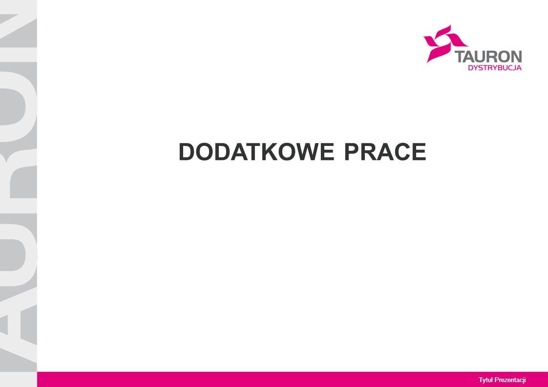 Tytuł Prezentacji DODATKOWE PRACE