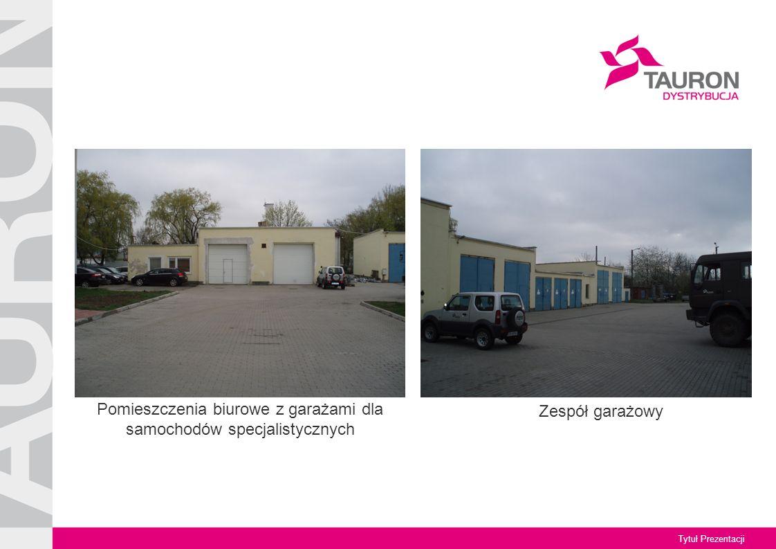 Tytuł Prezentacji Pomieszczenia biurowe z garażami dla samochodów specjalistycznych Zespół garażowy