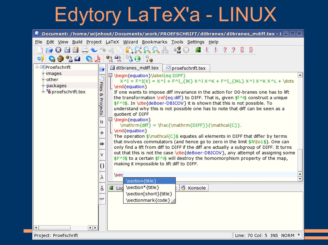 Edytory LaTeX a - LINUX