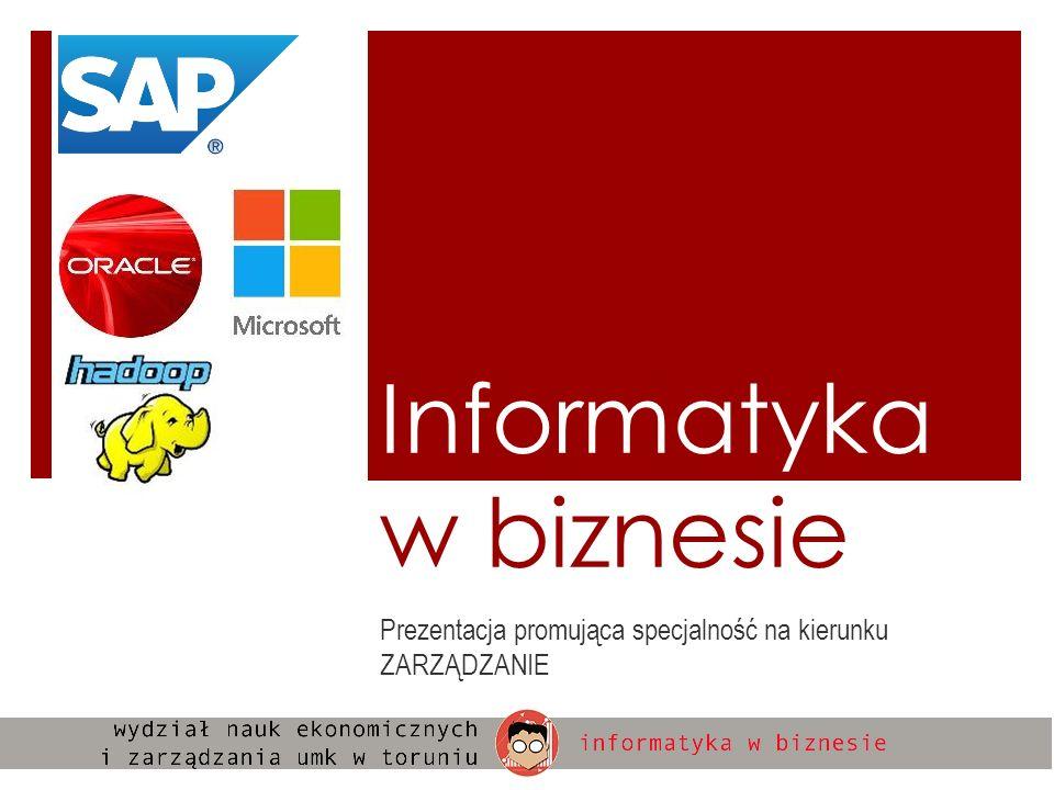Informatyka w biznesie Prezentacja promująca specjalność na kierunku ZARZĄDZANIE