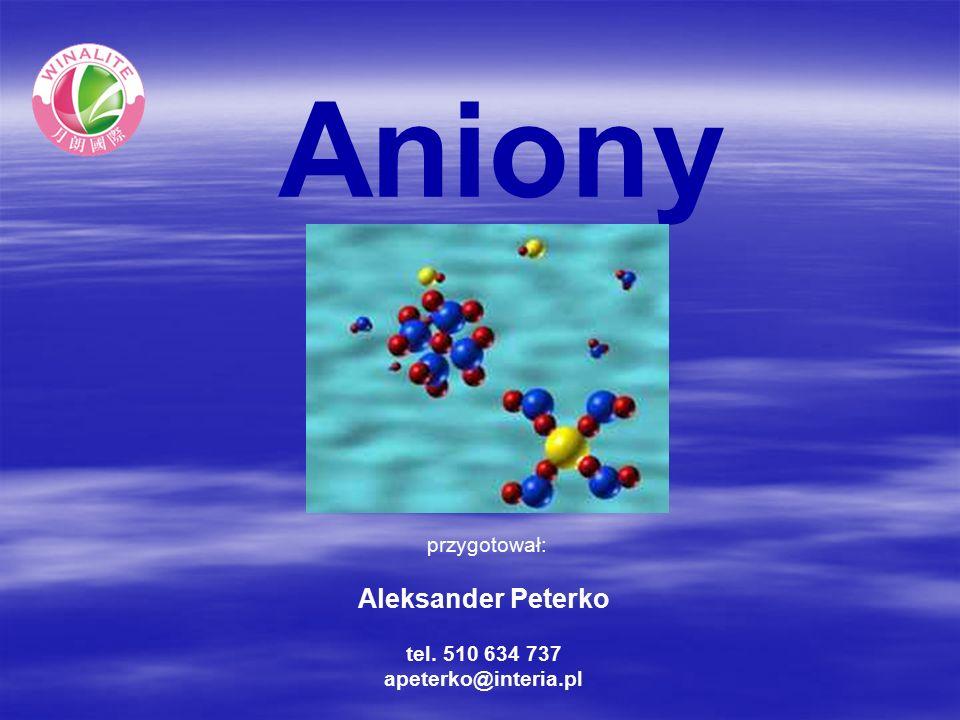 Aniony przygotował: Aleksander Peterko tel. 510 634 737 apeterko@interia.pl