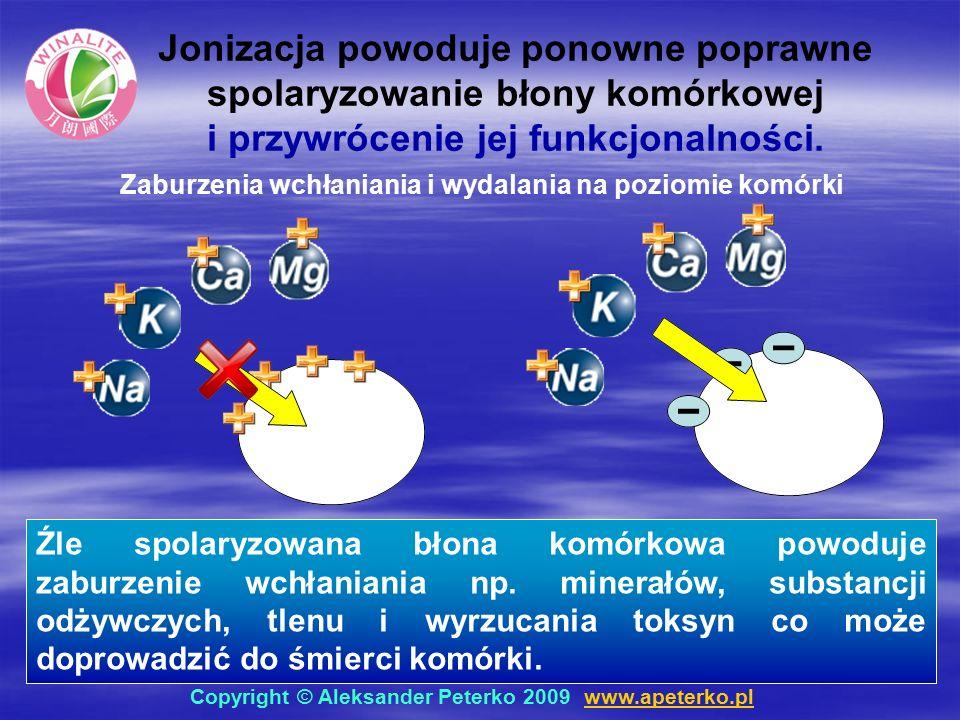 Źle spolaryzowana błona komórkowa powoduje zaburzenie wchłaniania np.