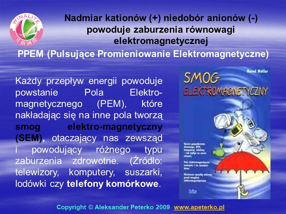 Każdy przepływ energii powoduje powstanie Pola Elektro- magnetycznego (PEM), które nakładając się na inne pola tworzą smog elektro-magnetyczny (SEM), otaczający nas zewsząd i powodujący różnego typu zaburzenia zdrowotne.