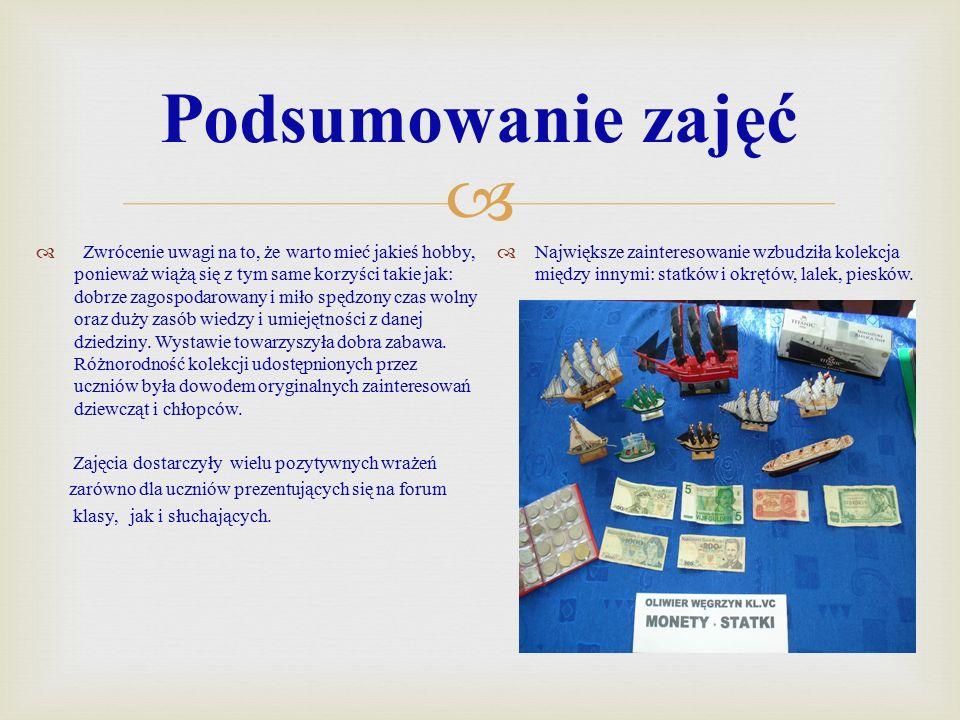  Kolekcje uczniów  Uczniowskie hobby