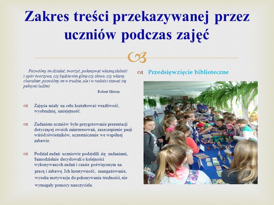 Najważniejsze cele imprezy prowadzonej przez uczniów  Cele :  1.