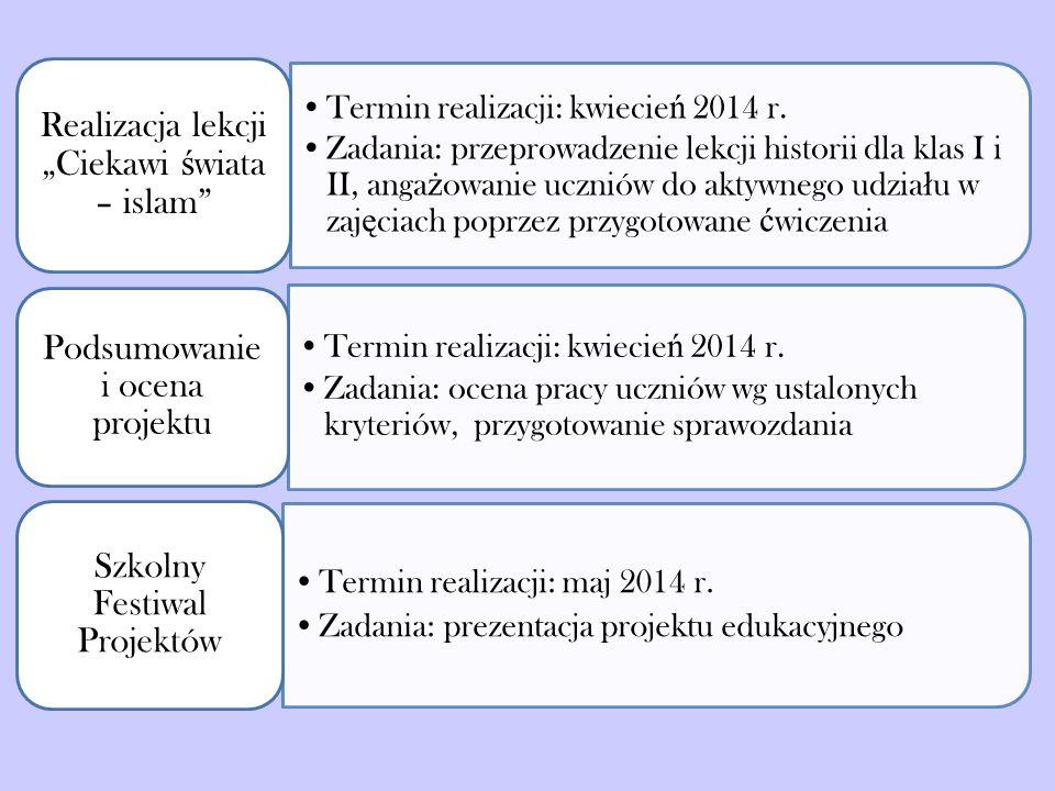 Termin realizacji: kwiecie ń 2014 r.