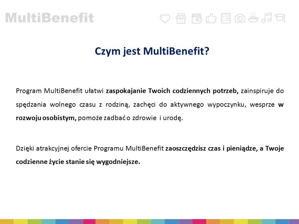 MultiBenefit Czym jest MultiBenefit? Program MultiBenefit ułatwi zaspokajanie Twoich codziennych potrzeb, zainspiruje do spędzania wolnego czasu z rod