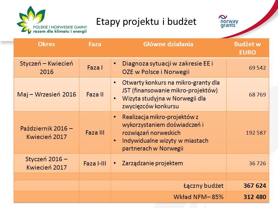 Etapy projektu i budżet