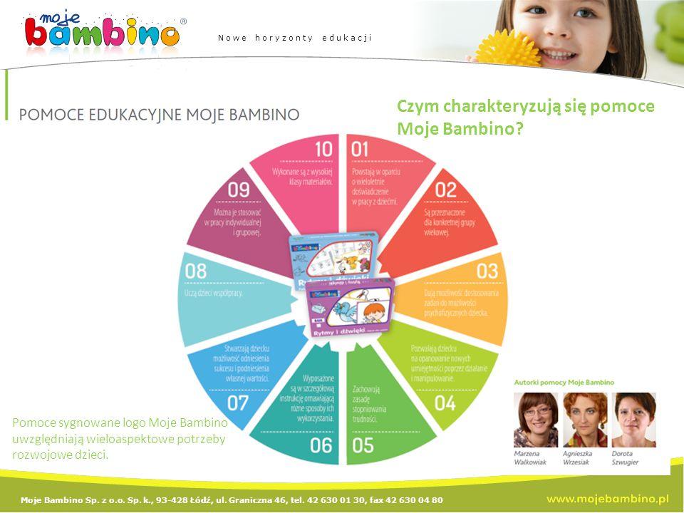 Moje Bambino Sp. z o.o. Sp. k., 93-428 Łódź, ul. Graniczna 46, tel. 42 630 01 30, fax 42 630 04 80 Nowe horyzonty edukacji Czym charakteryzują się pom