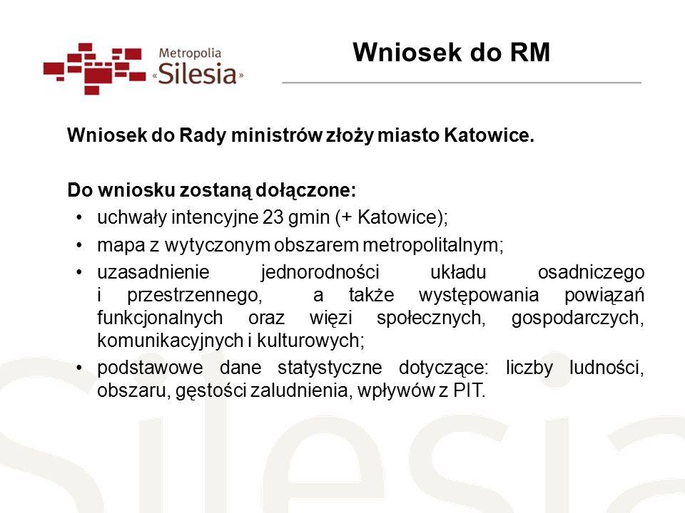 Wniosek do Rady ministrów złoży miasto Katowice.