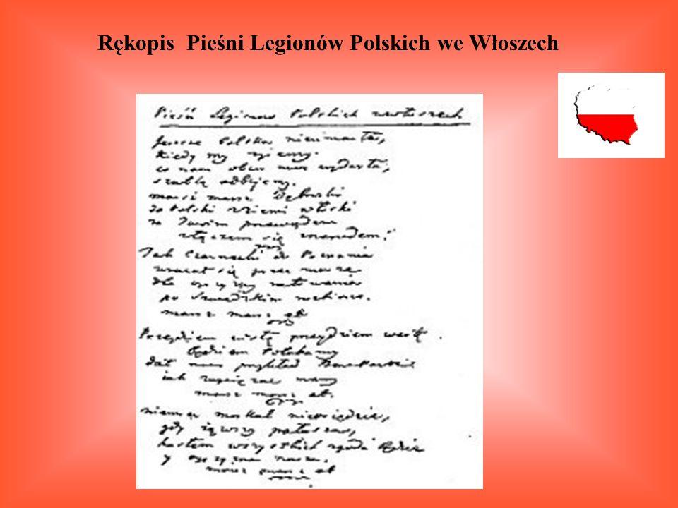 Rękopis Pieśni Legionów Polskich we Włoszech