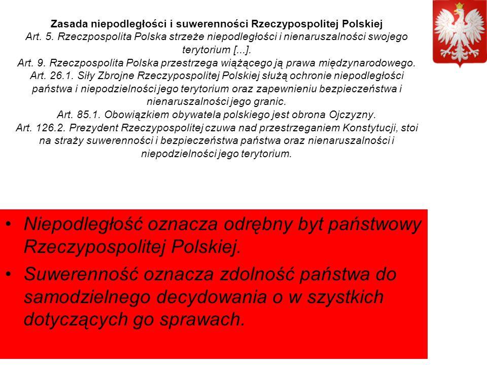 Zasada niepodległości i suwerenności Rzeczypospolitej Polskiej Art.