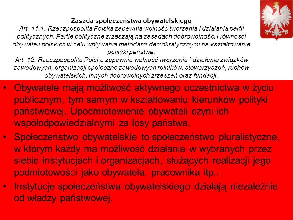 Zasada społeczeństwa obywatelskiego Art. 11.1.