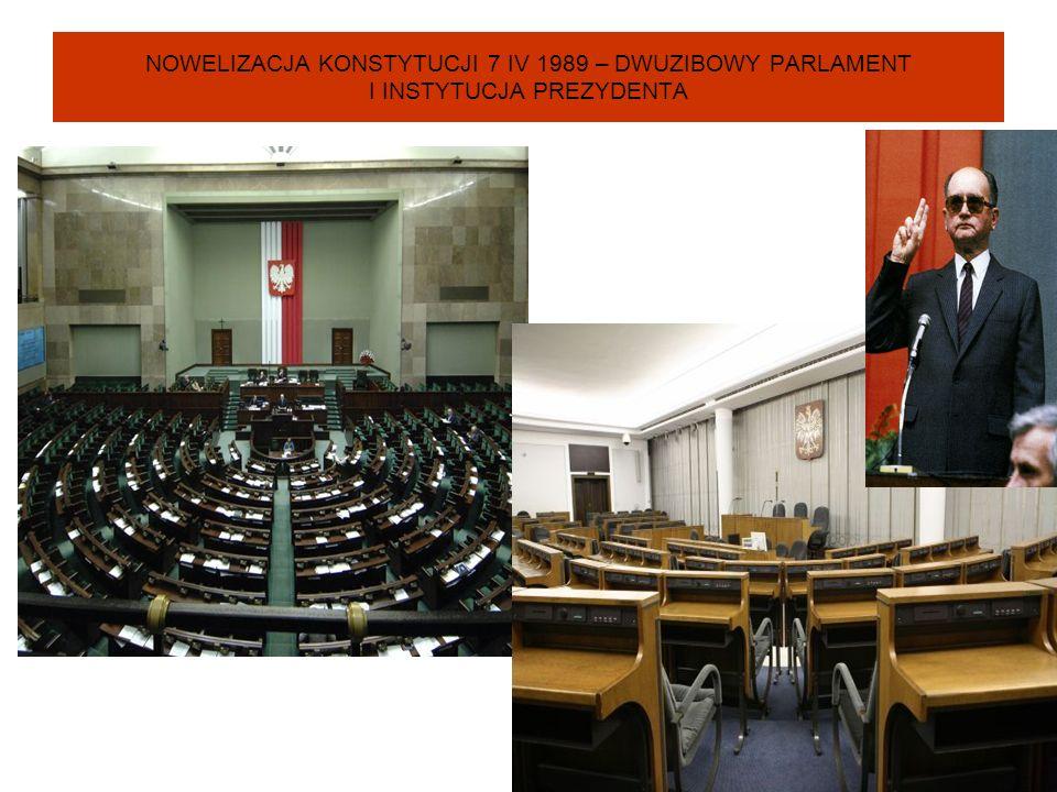 NOWELIZACJA KONSTYTUCJI 7 IV 1989 – DWUZIBOWY PARLAMENT I INSTYTUCJA PREZYDENTA