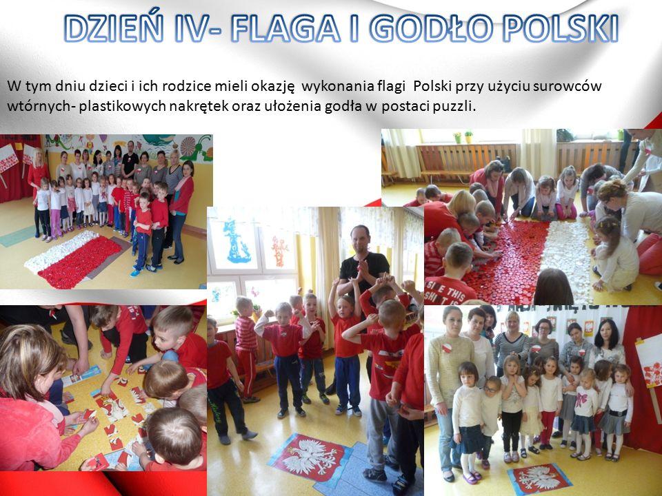 Trzeciego dnia przedszkolaki wspólnie z rodzicami projektowały kotyliony.