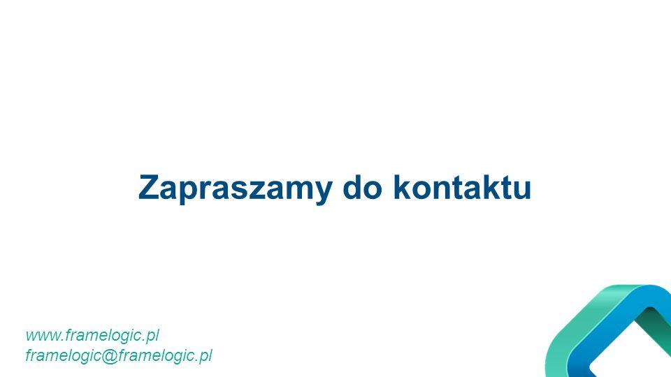 Zapraszamy do kontaktu www.framelogic.pl framelogic@framelogic.pl