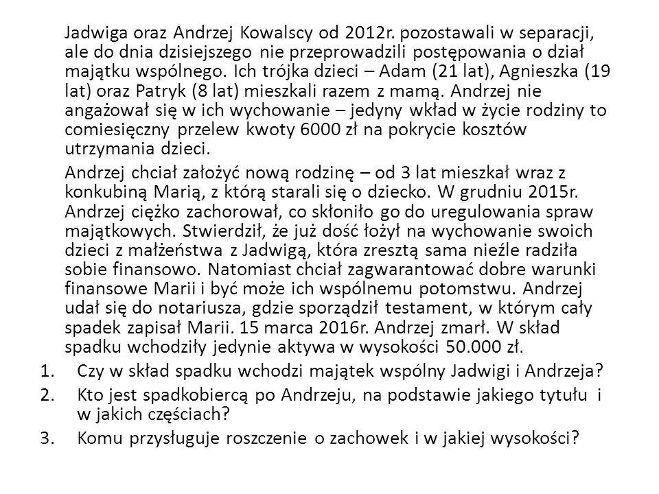Jadwiga oraz Andrzej Kowalscy od 2012r.